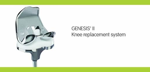 GENESIS II total knee replacement banner