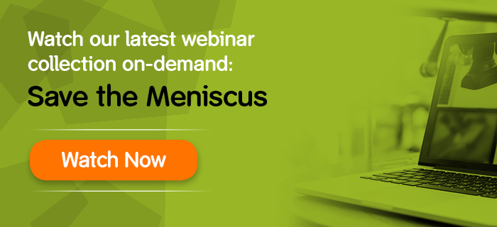 Meniscus repair webcast replay banner