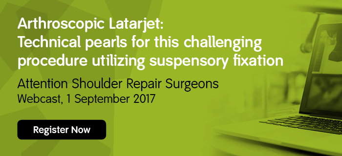 Latarjet procedure webinar banner