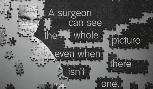 A surgeon can see the whole picture