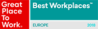 Great Place to Work logo - Europe