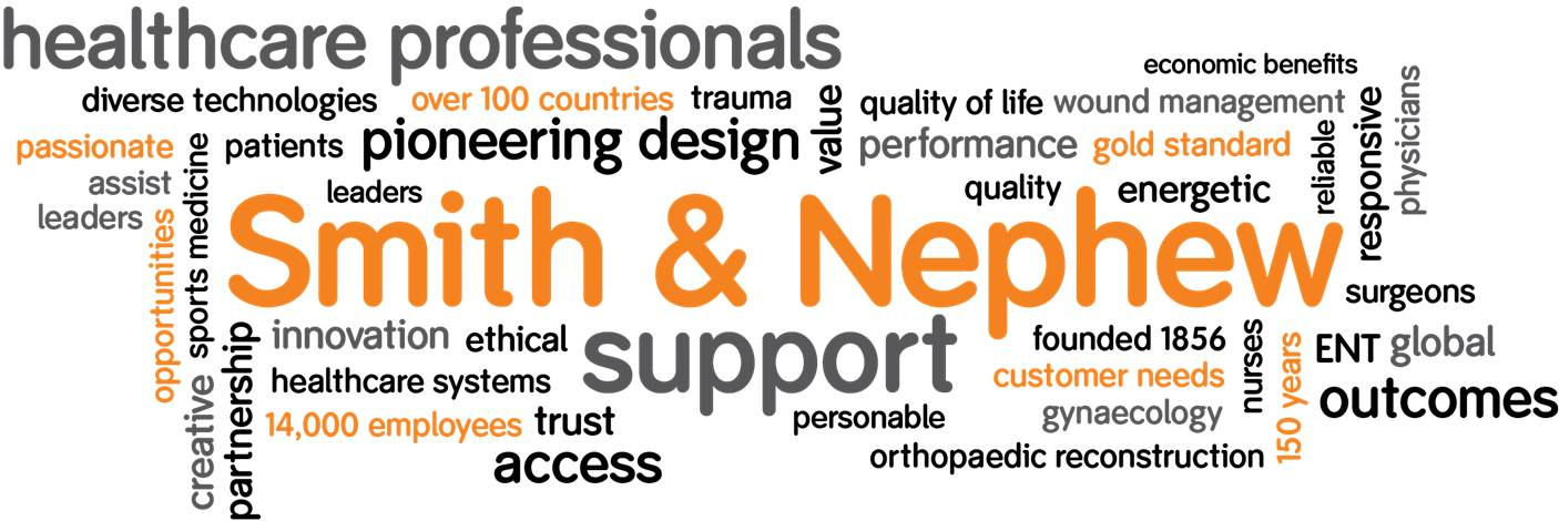 about smith nephew word cloud