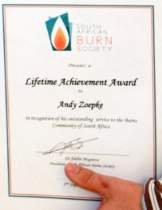 Lifetime Achievement Award for Andy Zoepke